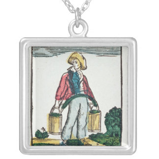 The Water Carrier Silver Plated Necklace