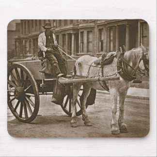 The Water Cart, from 'Street Life in London', 1877 Mouse Pad