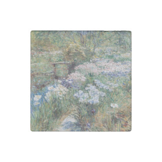 The Water Garden Childe Hassam Fine Art Stone Magnet