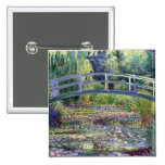 The Water Lily Pond by Claude Monet 15 Cm Square Badge