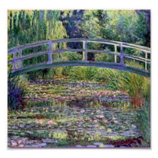 The Water Lily Pond by Claude Monet Poster