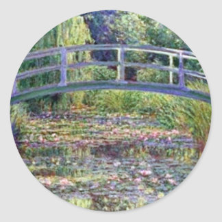 The Water Lily Pond by Claude Monet Round Sticker