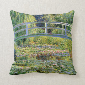 The Water-Lily Pond by Monet Fine Art Cushion