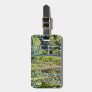 The Water-Lily Pond by Monet Fine Art Luggage Tag
