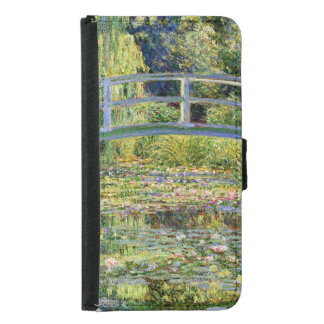 The Water-Lily Pond by Monet Fine Art Samsung Galaxy S5 Wallet Case
