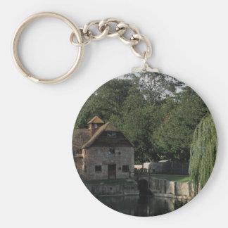 The Water Mill, Mapledurham, Oxford, England, U.K. Basic Round Button Key Ring