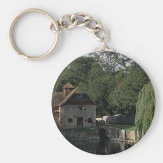 The Water Mill, Mapledurham, Oxford, England, U.K. Key Ring
