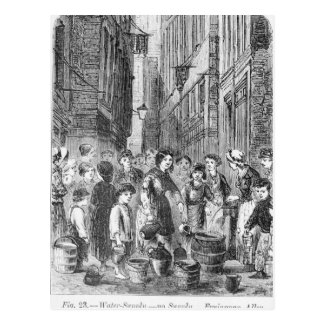 The Water supply in Fryingpan Alley Postcard