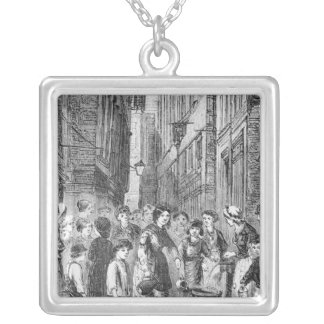 The Water supply in Fryingpan Alley Silver Plated Necklace