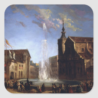 The Water Supply of Lozoya at the Fountain of the Square Sticker