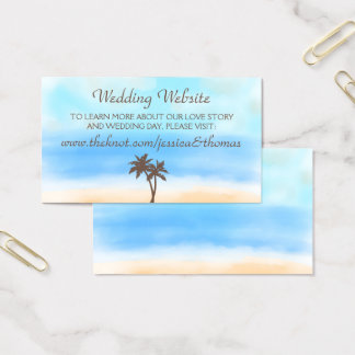 The Watercolor Beach Wedding Collection Website Business Card
