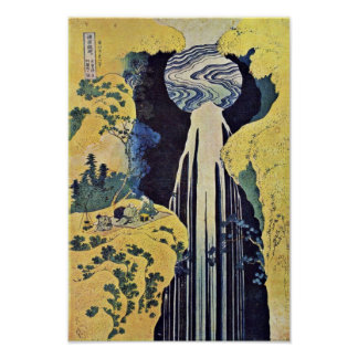 The Waterfall Of Amida Behind The Kiso Road (From Poster
