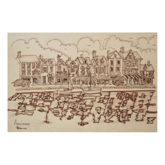 The Waterfront, Amiens | Somme, France Wood Print