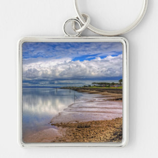 The Waterfront at Silloth Silver-Colored Square Key Ring