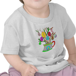 The WATERING-CAN WITH the EGGS DE PAQUES1.png T-shirts