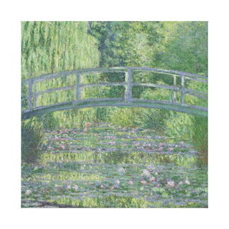 The Waterlily Pond: Green Harmony, 1899 Canvas Print