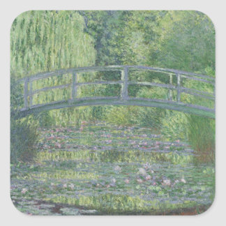 The Waterlily Pond: Green Harmony, 1899 Square Sticker