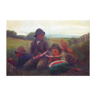 The Watermelon Boys - Homer Winslow Canvas Print