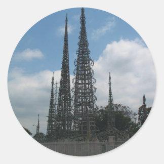 The Watts Towers Round Sticker