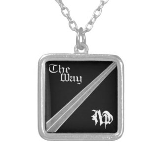 The way cover art silver plated necklace