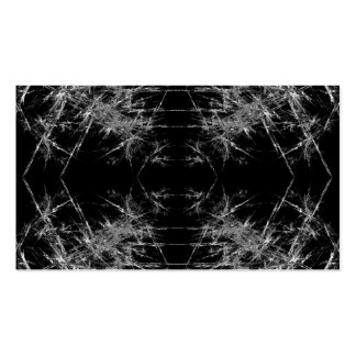 The Way In Fractal Art Monochrome Business Card Template