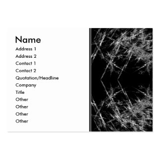 The Way In. Fractal Art. Monochrome Large Business Cards (Pack Of 100)