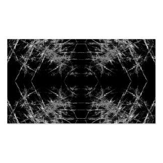The Way In. Fractal Art. Monochrome Business Cards