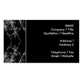 The Way In Fractal Art Monochrome Business Cards