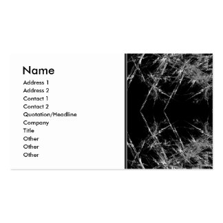 The Way In. Fractal Art. Monochrome Double-Sided Standard Business Cards (Pack Of 100)