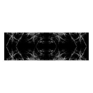 The Way In. Fractal Art. Monochrome Double-Sided Mini Business Cards (Pack Of 20)