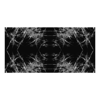 The Way In. Fractal Art. Monochrome Customized Photo Card