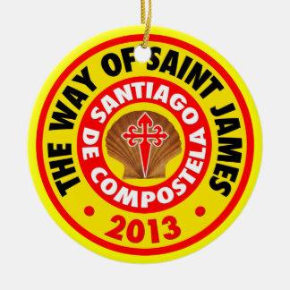 The Way of Saint James 2013 Christmas Ornament