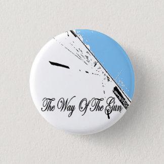 the way of the gun blue roadbutton 3 cm round badge