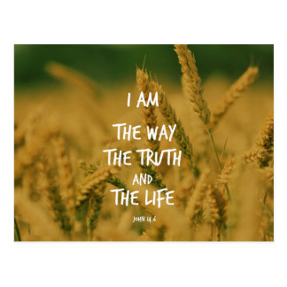 The way the Truth The Life Bible Verse Postcard