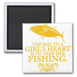 The Way To A Girl's Heart Square Magnet