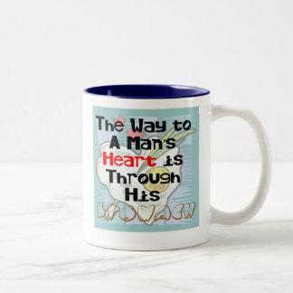 The Way to a Man's Heart 3 Two-Tone Mug