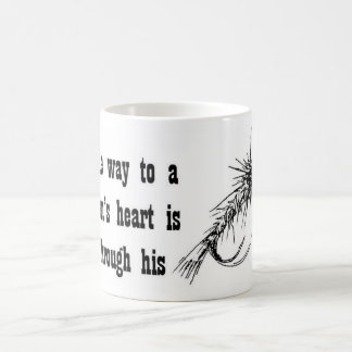 The Way to a man's heart is through his... Basic White Mug