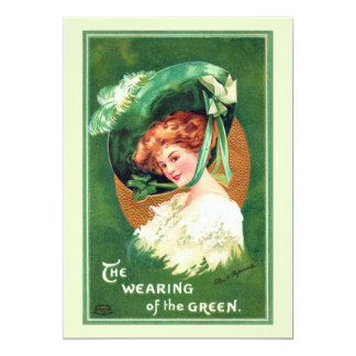 "The Wearing Of The Green Party Invitation 5"" X 7"" Invitation Card"