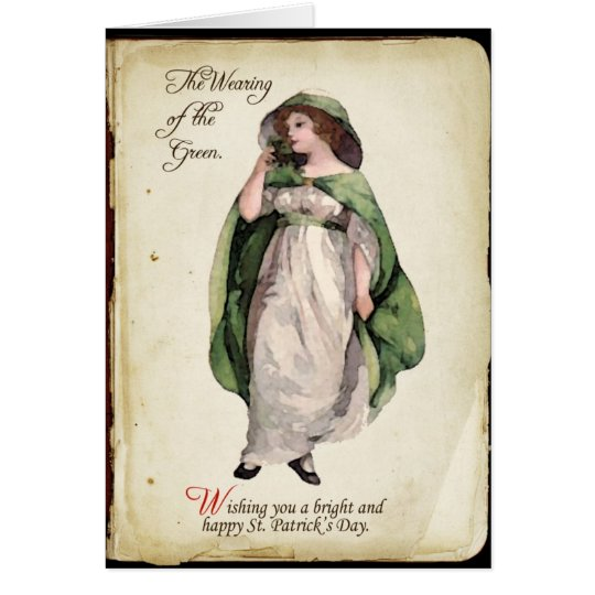 The Wearing of the Green St. Patrick's Day Card