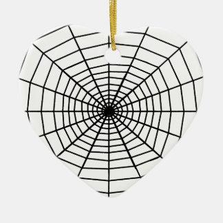 The Web Ceramic Heart Decoration