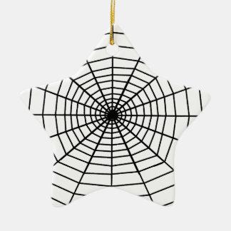 The Web Ceramic Star Decoration