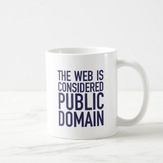 The Web Is Considered Public Domain - Blue Basic White Mug