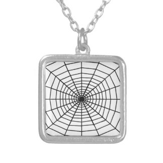 The Web Silver Plated Necklace