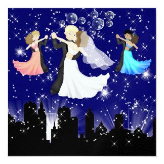 "The Wedding / Anniversary Waltz - SRF 5.25"" Square Invitation Card"