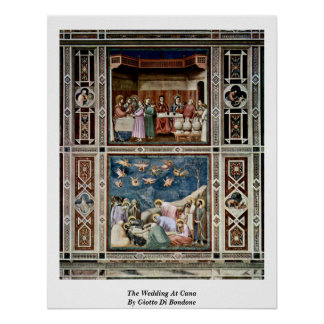 The Wedding At Cana By Giotto Di Bondone Poster