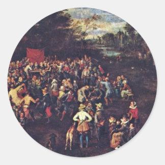 The Wedding Banquet By Bruegel D Ä Jan Best Qua Sticker