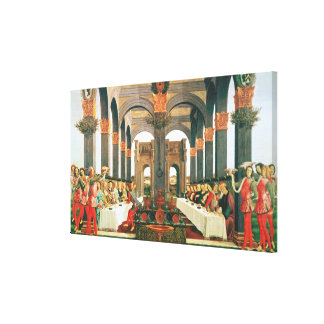The Wedding Feast Stretched Canvas Print