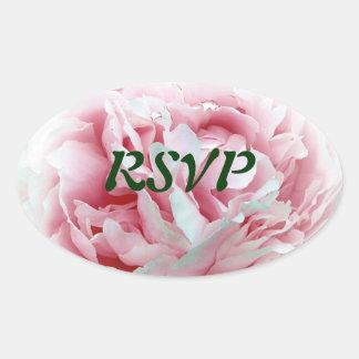 The Wedding Flower Envelope Seals Oval Sticker