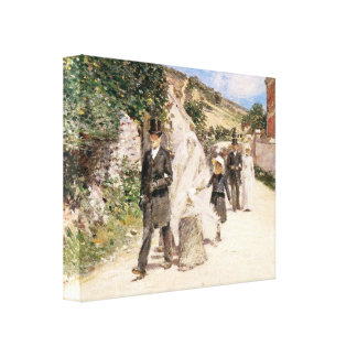 The Wedding March by Theodore Robinson, Newlyweds Canvas Prints