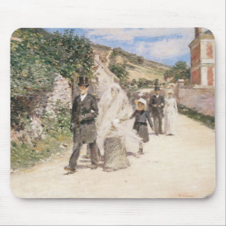 The Wedding March by Theodore Robinson, Newlyweds Mouse Pads